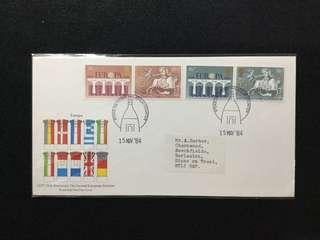 1984 Great Britain 25th Anniversary Of C.E.P.T (Europa) And Second Elections To European Parliament FDC #MY1212