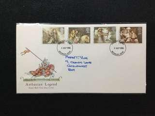 1985 Great Britain Arthurian Legends FDC #MY1212