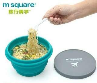 m square 便携旅行摺叠碗