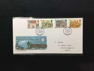 1986 Great Britain Medieval Life - 900th Anniversary  Of Domesday Book - FDC By Philart  (Note: Flap Stuck Inside Envelope)#MY1212