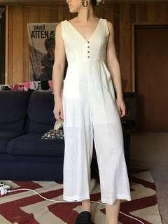 Princess Polly white jumpsuit romper beach size 6