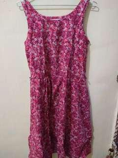 Dress Pink Bunga