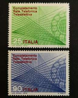 Italy 1970. The Completion of the Automatic Trunk Telephone Dialing System complete stamp set
