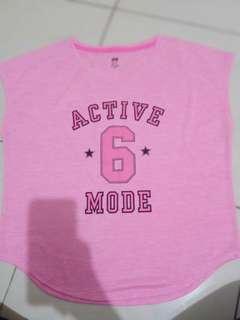 top shirt HM pink