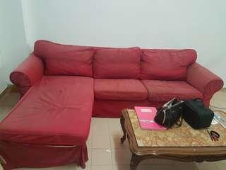 IKEA Ektorp L Shape Sofa