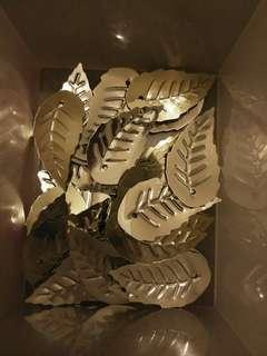 Silver leaf embellishments for jewellery making or crafts