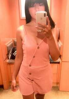 Pastel Pink Asymmetric Romper