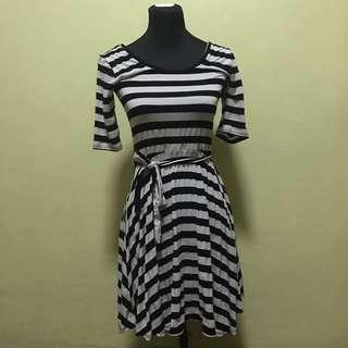 B&W Striped Dress