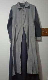 Dress Syari Hijab with Outer (Nyatu Sama Gamis