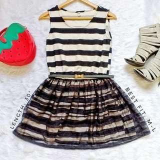 403 || B&W Stripe Dress