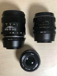 MF lenses for Fujifilm x-series