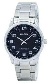 Authentic MTP V001D 1B Casio japan mens stainless steel watch
