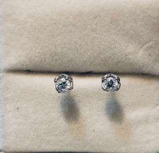 18K 750 Mabelle LEO diamond 36份 F colour  VS1 鑽石 耳環