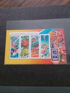 全新新加坡1996年亞特蘭大奧運小全張