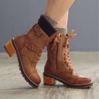 【預購】韓國   민토(1475640):彈力棉*馬丁靴/女鞋(尺寸:230-250)_免運。