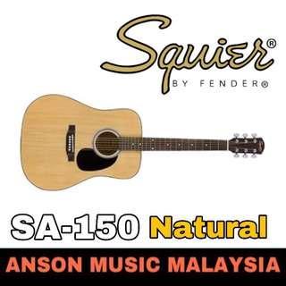 Squier SA-150 Dreadnought Acoustic Guitar, Natural