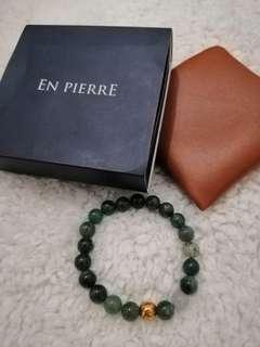 Original En Pierre Beads Bracelets (Moss Agate)