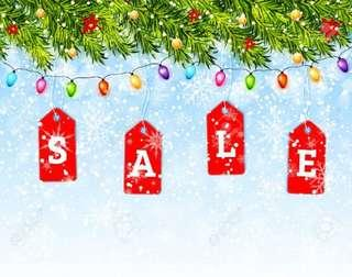 Christmas sales for instock items!!!