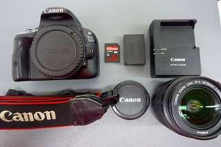 Canon EOS 100D | kitlens | 18mp with FHD video