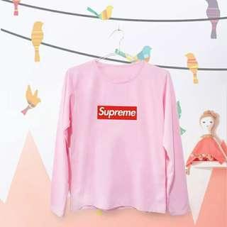T-shirt kaos supreme lengan panjang