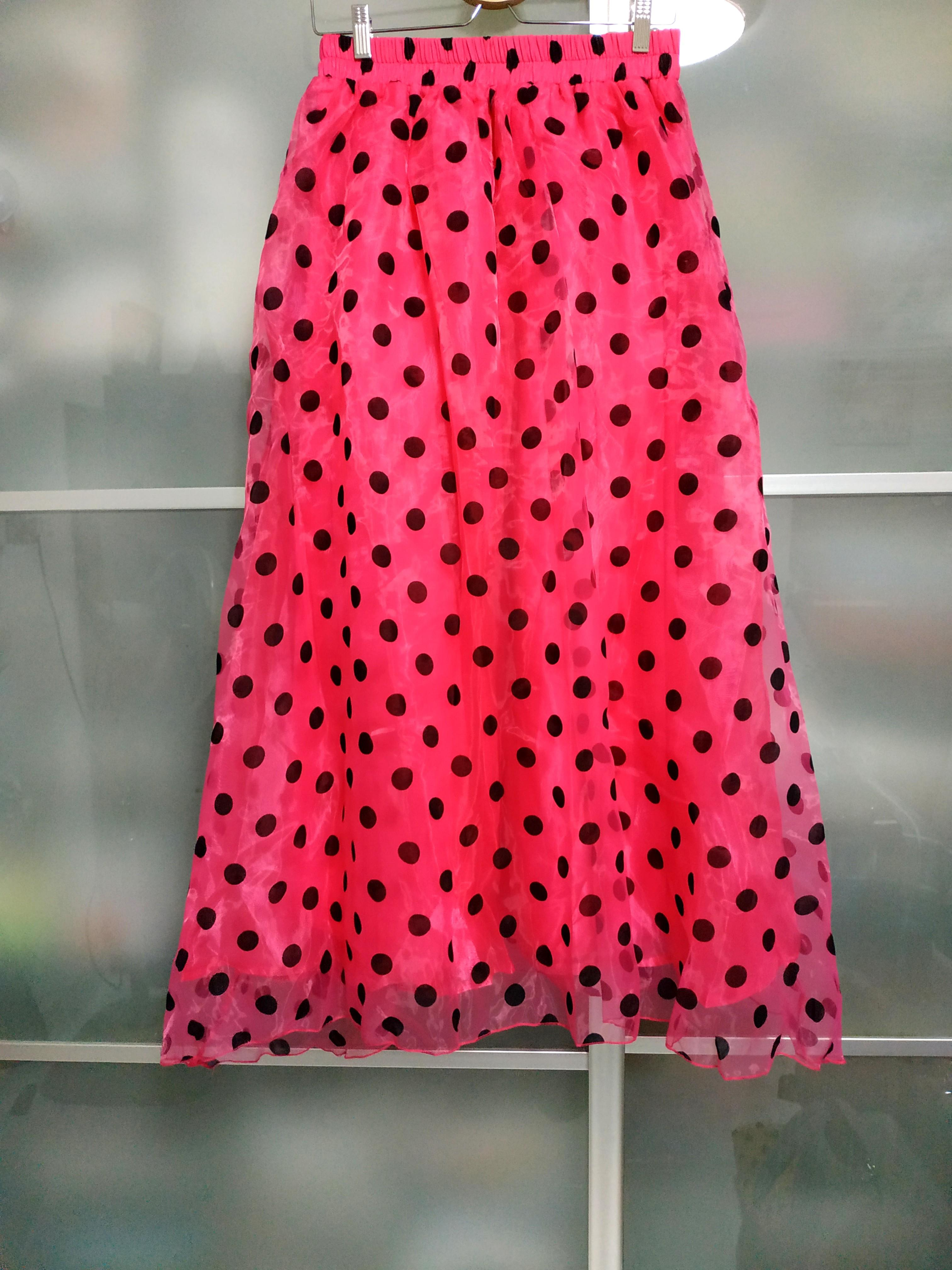 1 x pink polka dots skirts with lining at 1 low price and free delivery