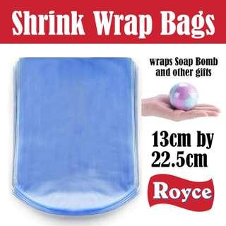 Heat shrinkable plastic bag 22.5cm X 13cm to wrap presents soap bomb remote control pencil case and other small items
