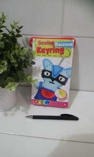 [FreeMail] CrafToy Sewing Key Ring - Raccoon $8.50