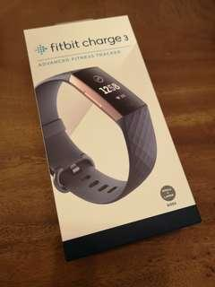BNIB Fitbit Charge 3 Rose gold