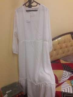 Dress putih POFELEVE Big Size