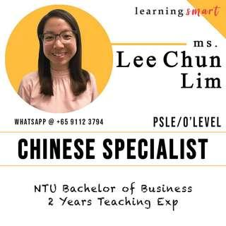 Chinese home tuition primary PSLE , Secondary O level