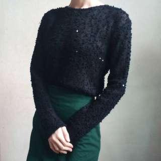 Sequined Long Sleeves Top