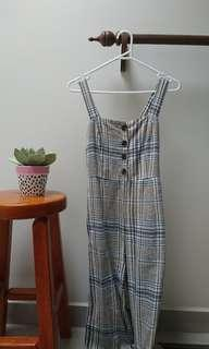 checkered grey jumpsuit glassons size 6
