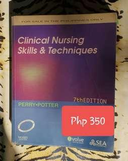 Clinical nursing skills and techniques Book