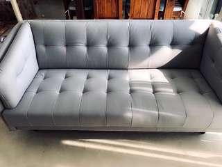 * New *  designer Grey Nordic Scandinavian fabric 2.5 Sofa
