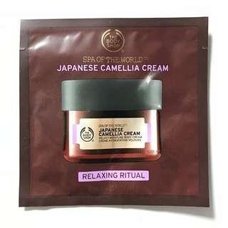 The Body Shop Japanese Camellia Cream 10ml tester sample