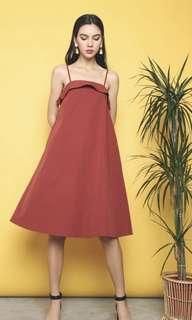 Hollyhoque TORONTO TENT DRESS BRICK RED *bnwt