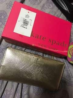 Kate spade gold wallet authentic