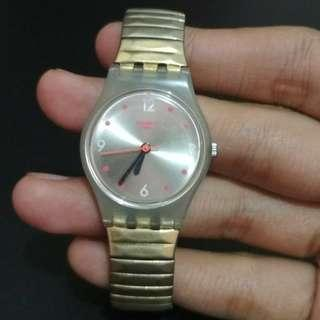 Preloved jam tangan swatch original bekas second seken wanita