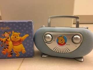 Disney Winnie the pool radio set