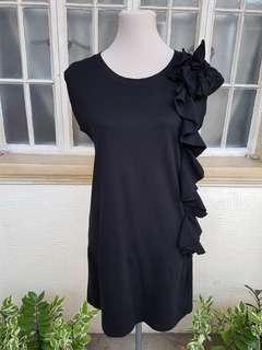 Something Borrowed Black Ruffled Dress