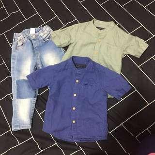 Authentic H&M jeans + NEXT shirts