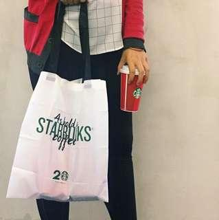 Starbucks Malaysia 20 Years Limited Edition Foldable Tote Bag