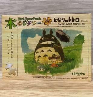 日本版 龍貓木製砌圖 連木盒