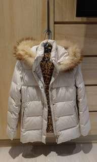日本 專櫃 貴牌 貴婦 ined 保暖 有帽 毛領 羽絨 外套