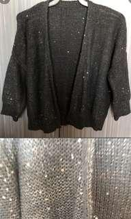 Black Cardigan with sequins