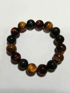 [高清]水晶奇石 三色虎眼手串 three-color tigerite bracelet 12mm