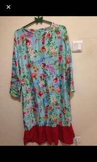 Tunik flower blue red