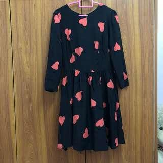 Topshop Heart Dress