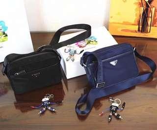 Prada unisex sling bag size 23cmx16cm Authentic Grade Quality