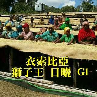 🚚 衣索比亞 西達摩 獅子王 日曬 G1(半磅裝咖啡豆)